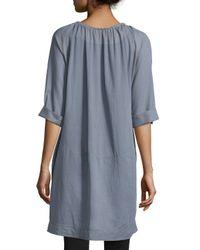 Donna Karan - Gray Short-sleeve Batiste Sleepshirt - Lyst