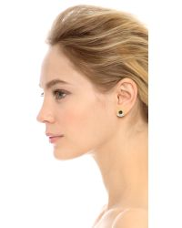 Iosselliani - Asymmetrical Earring Set - Green/gold - Lyst