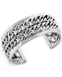 Lucky Brand - Metallic Two Row Chain Cuff Bracelet - Lyst