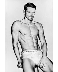 BOSS - White Cotton Briefs: 'traditional Bm' for Men - Lyst