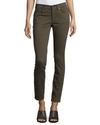 Eileen Fisher - Brown Sueded Organic-stretch Sateen Jeans - Lyst