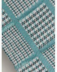 Giorgio Armani - Blue Woven Check Pocket Square for Men - Lyst
