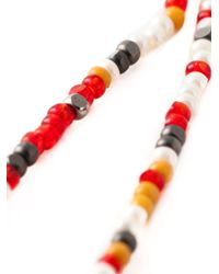 Etro - Red Long Beaded Necklace - Lyst