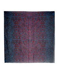 McQ - Purple New Animal Blue And Pink Silk Scarf - Lyst