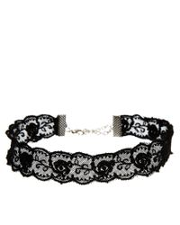 ASOS - Black Lace Choker Necklace - Lyst