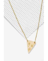 Nasty Gal | Metallic Vinca Home Slice Gold Pizza Necklace | Lyst