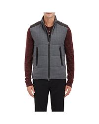 Vince - Gray Men's Channel-quilted Vest for Men - Lyst