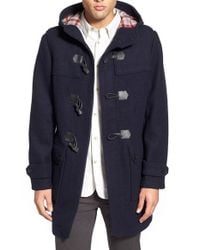 Ben Sherman | Blue Wool Blend Duffle Coat for Men | Lyst