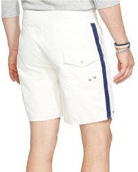 Polo Ralph Lauren | White Palm Island Varsity Swim Trunks for Men | Lyst