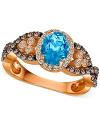 Le Vian - ® Blue Topaz (1 Ct. T./w.) And Diamond (2/3 Ct. T.w.) Ring In 14k Rose Gold - Lyst