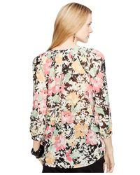 Lauren by Ralph Lauren - Pink Plus Floral Print Blouse - Lyst