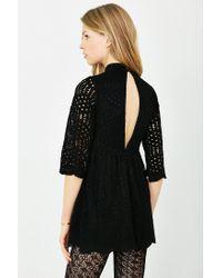 Motel - Black Luella Lace Babydoll Dress - Lyst