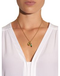 Irene Neuwirth - Green Diamond, Moonstone, Tourmaline & Gold Necklace - Lyst