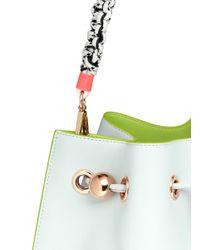 Sophia Webster - Green 'romy' Braided Handle Leather Bucket Bag - Lyst