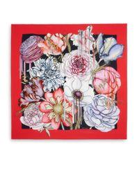 Swash London - Red Morphology Amaranthaceae Silk Scarf - Lyst