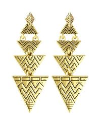 House of Harlow 1960 | Metallic Pave Tribal Triangle Earrings | Lyst