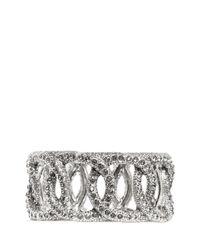 Philippe Audibert - Metallic Rhinestone Chain Elasticated Bracelet - Lyst