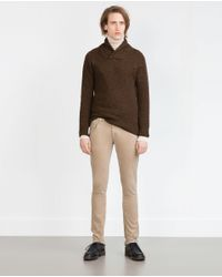 Zara | Brown Structured Sweater for Men | Lyst
