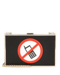Anya Hindmarch - Black No Mobile Imperial Clutch - Lyst