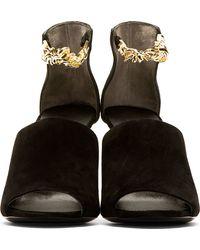 3.1 Phillip Lim - Black Ankle Chain Berlin Heels - Lyst