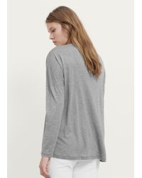 Violeta by Mango - Gray Basic T-shirt - Lyst
