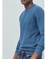 Mango | Blue Round Neck Sweater for Men | Lyst