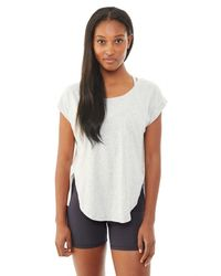 Alternative Apparel - Gray Stand Out Tissue Slub T-shirt - Lyst