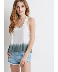 Forever 21 | Gray Dip-dye Braided Back Top | Lyst