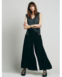 Free People | Black Endless Summer Womens Lola Pant | Lyst