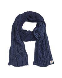 Polo Ralph Lauren - Blue Stonewashed Cotton Scarf for Men - Lyst