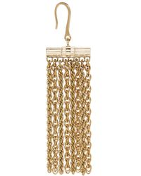 Lanvin | Metallic Gold Chain Zita Earrings | Lyst