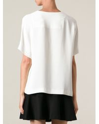 JOSEPH - White Loose Fit Top - Lyst