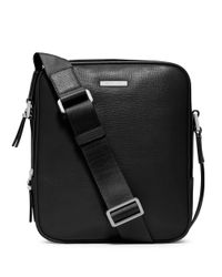 Michael Kors | Black Warren Leather Small Flight Bag for Men | Lyst