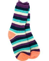 The Elder Statesman - Multicolor Striped Socks - Lyst