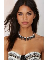 Nasty Gal - Black Reggie Chain Collar Necklace - Lyst