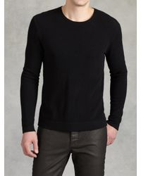 John Varvatos | Black Ls Crewneck Sweater for Men | Lyst