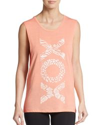 Betsey Johnson | Orange Xo Muscle Tank | Lyst