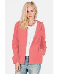 Volcom | Pink 'enemy Stone' Hooded Jacket | Lyst