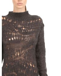 Rick Owens - Black Loose Knit Mohair Silk Blend Sweater - Lyst