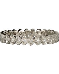 Cathy Waterman - Metallic Continuous Heart Stackable Band - Lyst