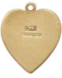 Annina Vogel - Metallic Vintage Gold Flat Heart Charm - Lyst