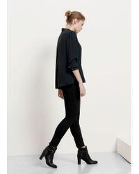Violeta by Mango | Green V-neckline Blouse | Lyst