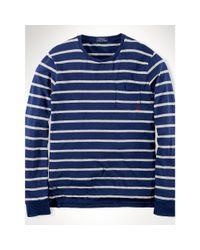 Polo Ralph Lauren | White Striped Cotton Jersey T-shirt for Men | Lyst