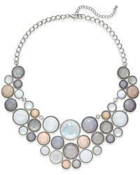 INC International Concepts - Metallic Silver-tone Circle Bib Statement Necklace - Lyst