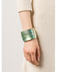 Alexis Bittar | Green Marble Effect Hinged Cuff | Lyst