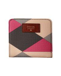 Fossil | Pink Sydney Bifold | Lyst