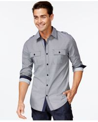 Guess | Blue Variegated Dot Shirt for Men | Lyst