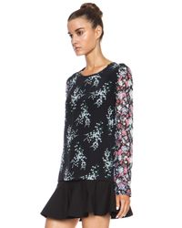 Equipment - Black Liam Elevated Bloom Silk Blouse - Lyst