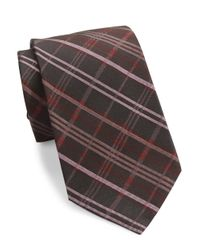Calvin Klein | Pink Plaid Silk Tie for Men | Lyst
