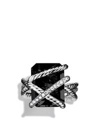 David Yurman - Metallic Cable Wrap Ring With Black Onyx And Diamonds - Lyst
